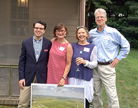 (l to r)Nicholas Redding, Executive Director of Preservation Maryland, Secretary Elizabeth Watson(KCPA), Chair Janet Christensen-Lewis(KCPA), and Board Member John Lysinger.